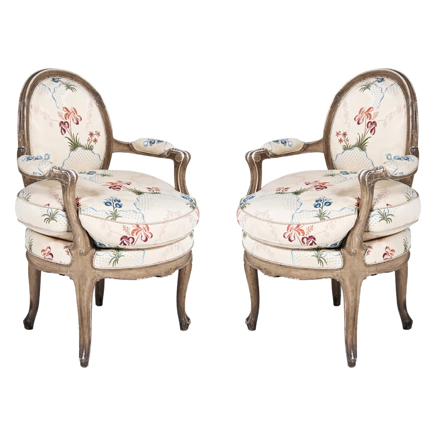 A Pair Of Louis XV Armchairs, France Circa 1800 | Antique And Art Exchange